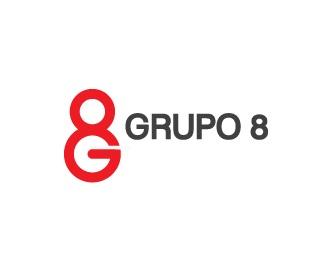 red,helvetica,8,grupo,grupo 8 logo