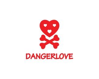 heart,love,skull,danger logo