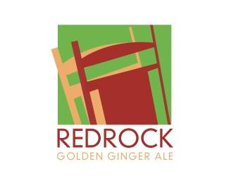 red,square,rock,ginger ale logo
