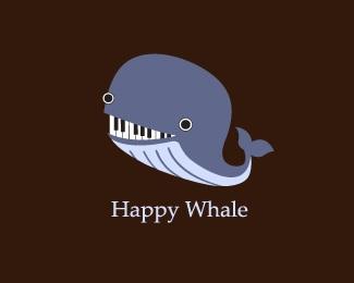 music,piano,whale,sining logo