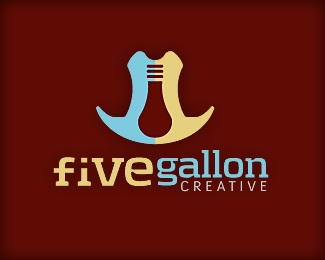 creative,design,idea,western,5 gallon creative logo