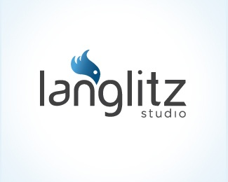 bird,blue,studio logo