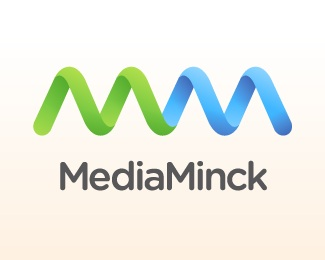 blue,green,media,management logo