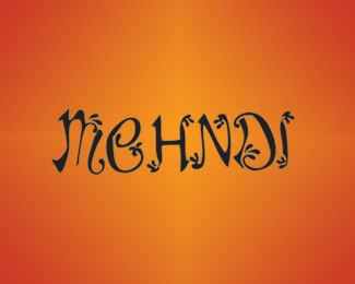 script,india,indian,indian inspired,mehandi logo