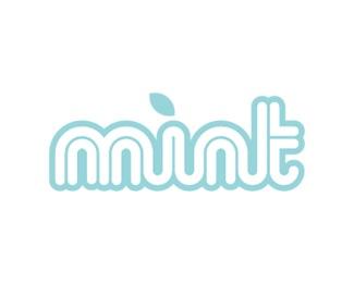 green,serif,niche,trendy,mint management logo