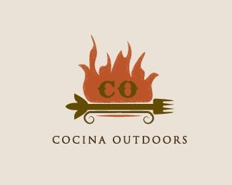 disc,fire,flame,ranch,grungy logo