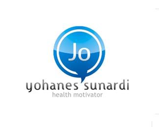 blue,jo,fito,health motivator logo