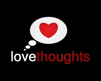 love,heart. thoughts. thought,think. red logo