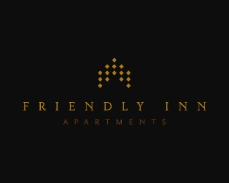 apartments,friendly,inn logo