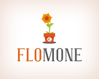 cash,flower,money,growing logo