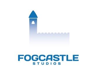 blue,castle,fog logo