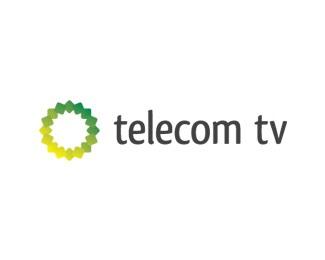 circle,flower,tv,telecom logo