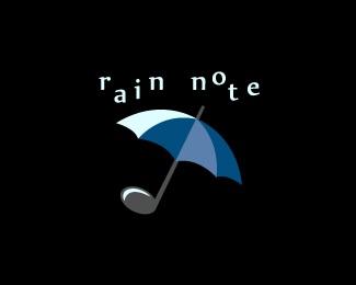 blue,music,note,rain,umbrella logo