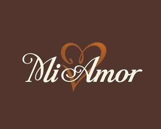 heart,amor,cafe,salon,amore logo