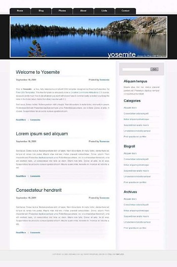 lake,nature,outdoors website template