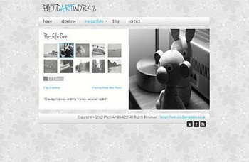 art,personal,portfolio website template