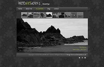 art,personal,portfolio website template