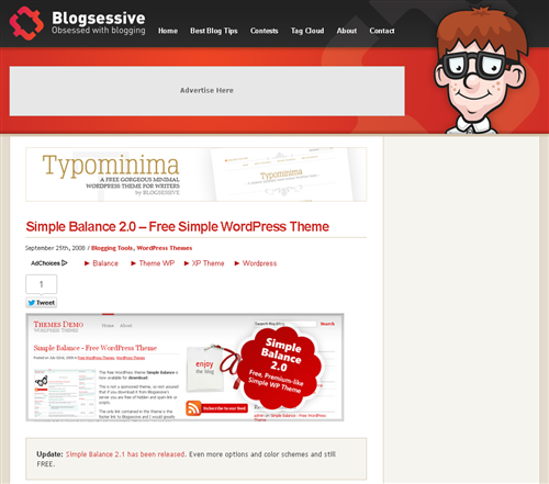 Simple Balance Free Wordpress Theme