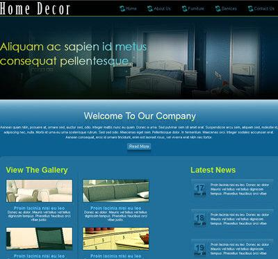 dark colors,interior website template