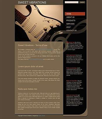 business,corporate,music website template
