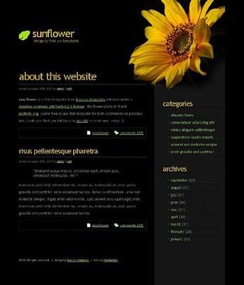 flower website template