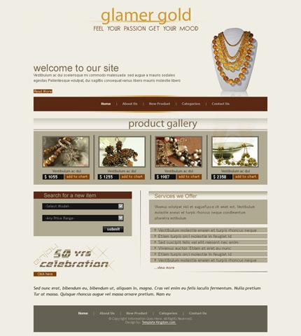 business,jewelry website template