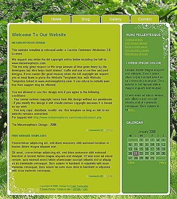 garden website template