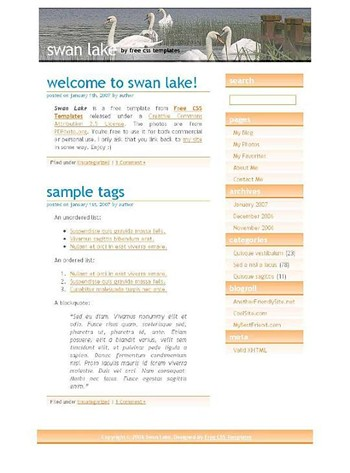 animals,lake,nature website template