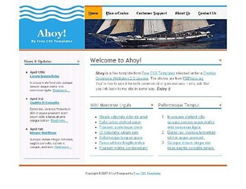 boats,travel,voyage website template