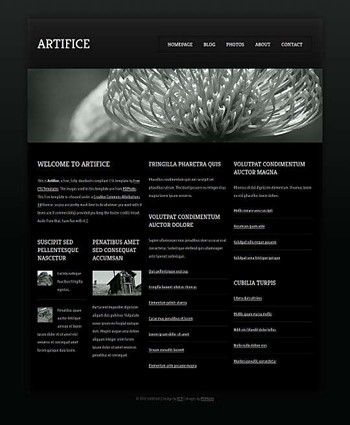 blog,gaming,music,neutral website template