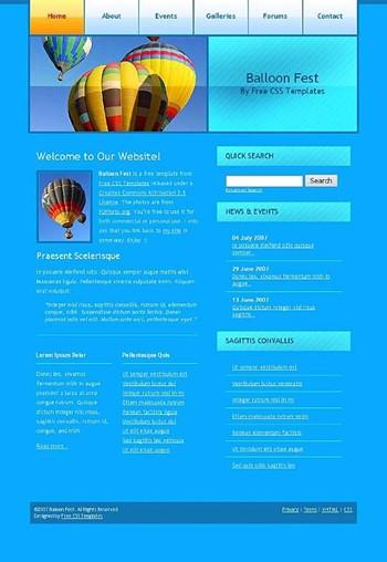 air,balloon,hot website template