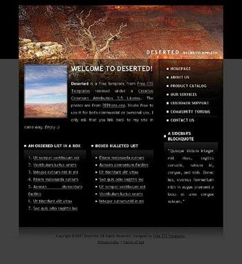 desert,mountain,nature,stone website template