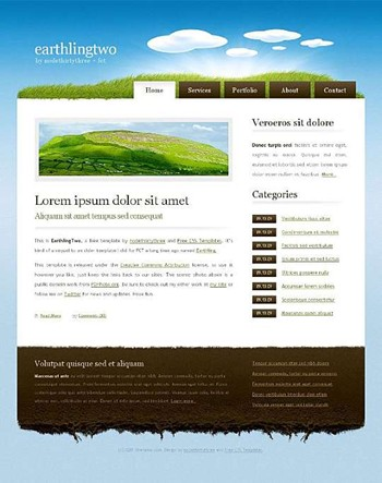 clouds,earth,grass,nature,sky website template