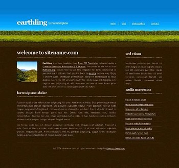 earth,grass,nature website template