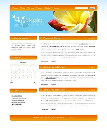flower,nature website template