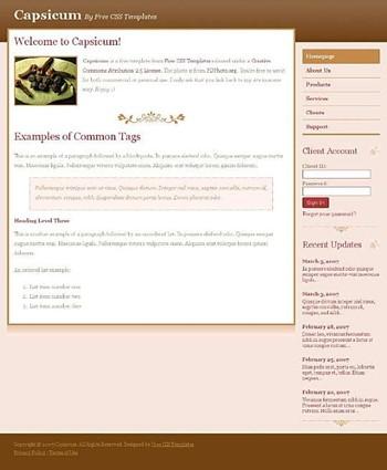chili,pepper website template