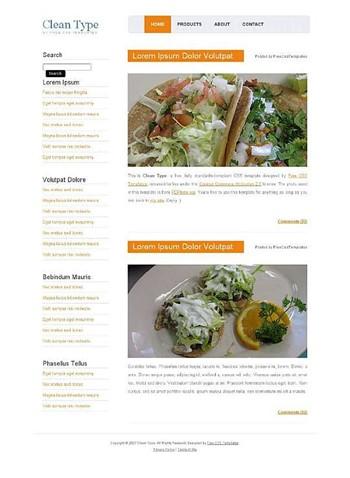 food website template