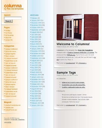 window website template