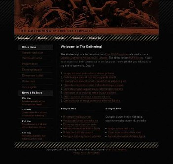 antique,gothic website template