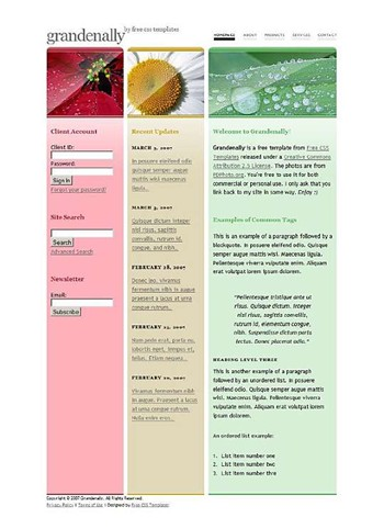 flower,garden,leaves,stigma website template