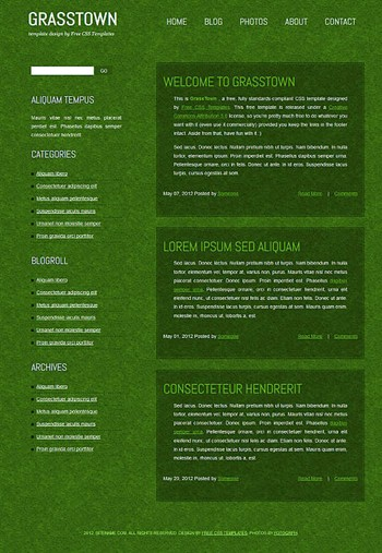 nature,personal website template