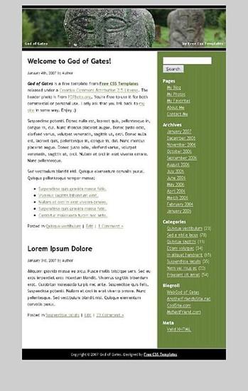 ancient,stones website template