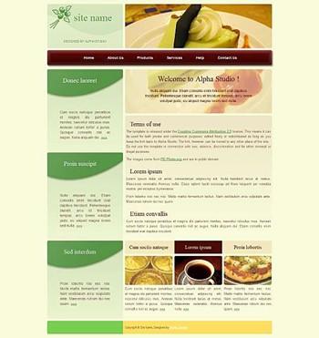 business,corporate,food website template