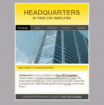 building,office website template