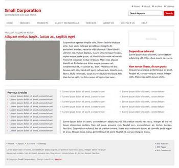 blog,corporate website template