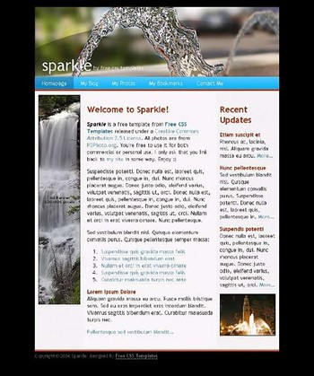 splash,water website template