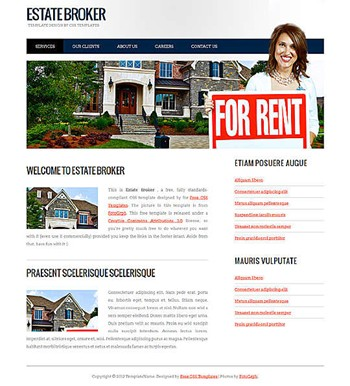 business,realestate website template