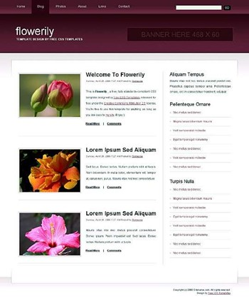 flowers,nature website template
