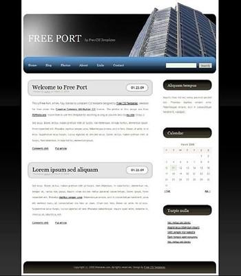 building,tall website template