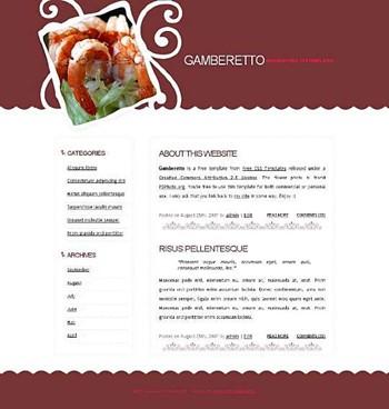 food,restaurant website template